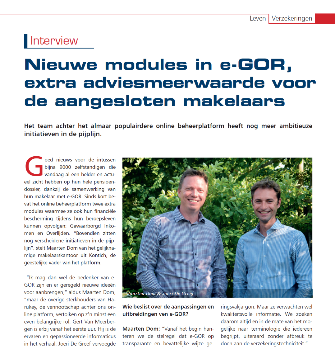 Artikel in magazine